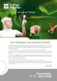 Newsletter n° 3 - Mai 2012 - Tuffigo-rapidex
