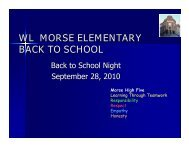 WL MORSE ELEMENTARY BACK TO SCHOOL