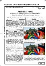 Abenteuer HDTV - khd-Blog
