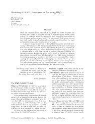 Revisiting WYSIWYG Paradigms for Authoring LATEX - TUG