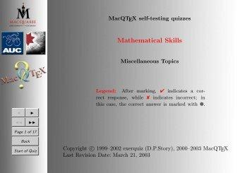 titlecolourMathematical Skills - TUG