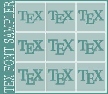 TEX FONT SAMPLER - TUG