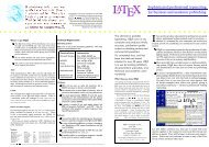 LATEX Sophisticated professional typesetting for business and ...