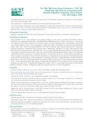 TUG conference registration form