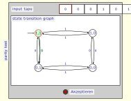 pa rity test input tape 0 0 0 1 0 1 state transition graph 1,1 1,0 ... - TUG
