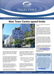 Valley Voice Issue – August 2012 - Tuggeranong Community Council