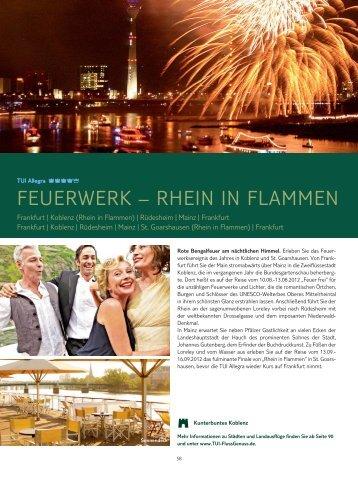 FEUERWERK – RHEIN IN FLAMMEN - TUI FlussGenuss