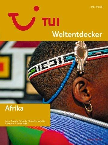 TUI - Weltentdecker: Afrika - Sommer 2008 - tui.com - Onlinekatalog