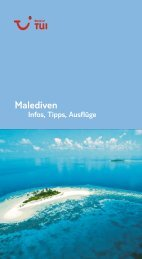 TUI - Infos, Tipps, Ausflüge: Malediven - tui.com - Onlinekatalog