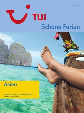 TUI - Asien - Sommer 2007 - tui.com - Onlinekatalog