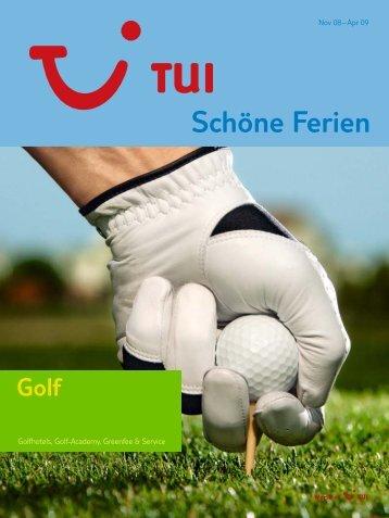 tui golf - tui.com - Onlinekatalog