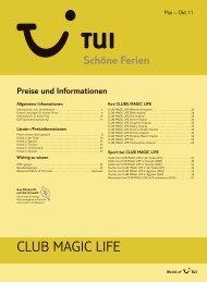 club magic life - tui.com - Onlinekatalog