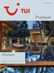 TUI - Premium: Exotic - Winter 2008/2009 - tui.com - Onlinekatalog
