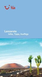 TUI - Infos, Tipps, Ausflüge: Lanzarote - tui.com - Onlinekatalog