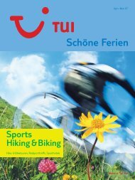 TUI - Sports Hiking & Biking - Sommer 2007 - tui.com - Onlinekatalog