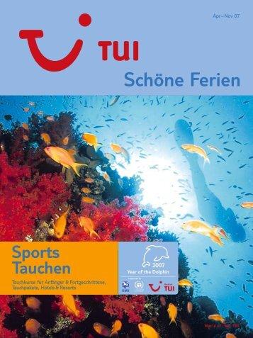 TUI - Sports Tauchen - Sommer 2007 - tui.com - Onlinekatalog