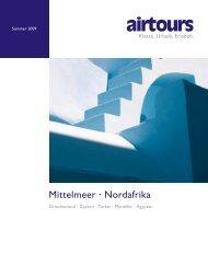 AIRTOURS - Mittelmeer, Nordafrika - Sommer 2009 - Online Kataloge