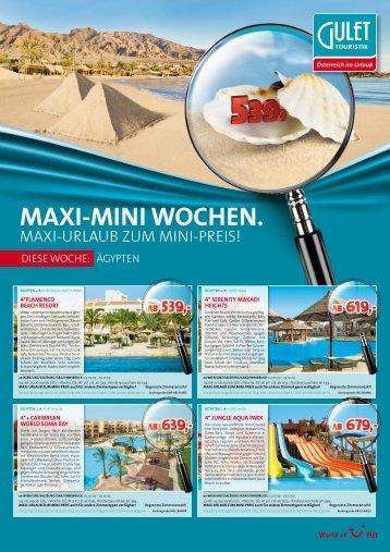 MAXI-MINI WOCHEN. - TUI ReiseCenter