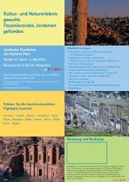 Kultur- und Naturerlebnis gesucht ... - TUI ReiseCenter