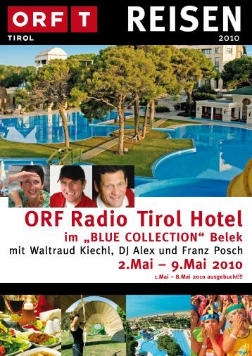 "ORF Radio Tirol Hotel im ""BLUE COLLECTION"" - TUI ReiseCenter"