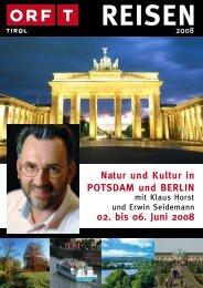 Natur und Kultur in POTSDAM und BERLIN 02 ... - TUI ReiseCenter