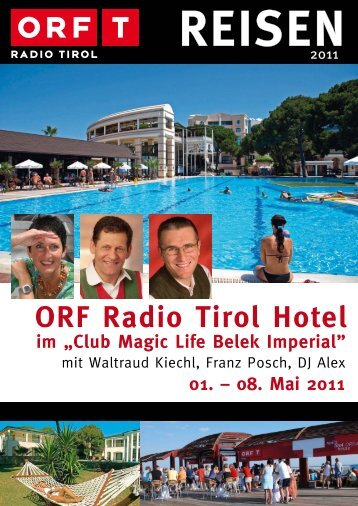 ORF Radio Tirol Hotel 01. – 08. Mai 2011 - TUI ReiseCenter