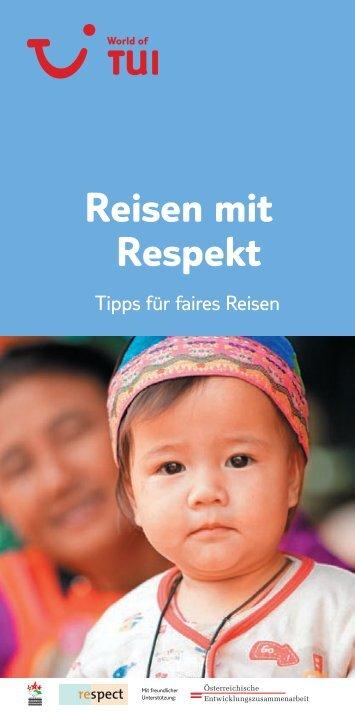 """Online-Broschüre """"Reisen mit Respekt"""" - TUI.at"""