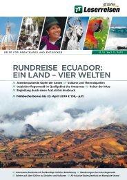RundReise ecuadoR: ein Land – vieR WeLten ... - TUI ReiseCenter