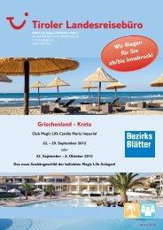 Griechenland - Kreta Wir fliegen für Sie ab/bis ... - TUI ReiseCenter