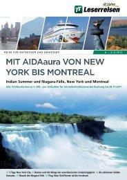 MiT AiDAaura VON NEW YORK BiS MONTREAL ... - TUI ReiseCenter