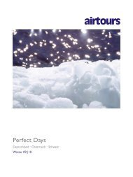AIRTOURS - Perfect Days - Winter 2009/2010 - TUI.at