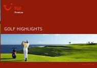 TUI - Premium: Golf Highlights - Winter 2009/2010 - TUI.at