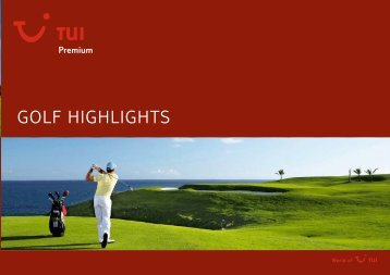 TUI - Premium: Golf Highlights - Winter 2009/2010 - TUI.at