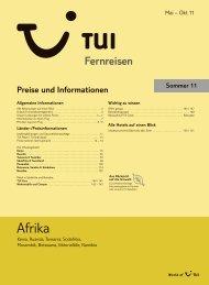 TUI - Preisteil - Sommer 2011 - TUI.at