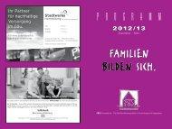 FAMILIEN BILDEN SICH. - Familienbildungsstätte Herrenberg