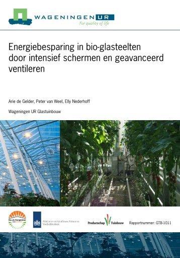 Energiebesparing in bio-glasteelten door intensief ... - Energiek2020