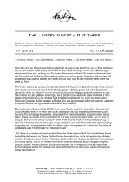 The Unseen Guest – Out There - TUITION