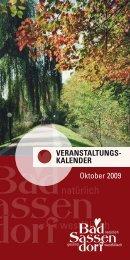 OktOber 2009 - Tagungs- und Kongresszentrum Bad Sassendorf
