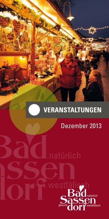 VERANSTALTUNGEN Dezember 2013 - Tagungs