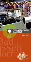 Juni 2010 - Tagungs- und Kongresszentrum Bad Sassendorf