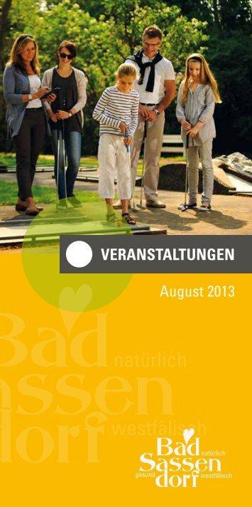 VERANSTALTUNGEN August 2013 - Tagungs