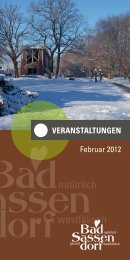 Februar 2012 - Tagungs- und Kongresszentrum Bad Sassendorf