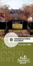 Veranstaltungs- kalender November 2009 - Tagungs