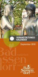 September 2010 - Tagungs- und Kongresszentrum Bad Sassendorf