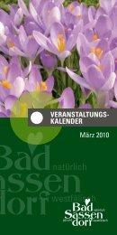 März 2010 - Tagungs- und Kongresszentrum Bad Sassendorf