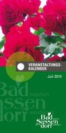 Juli 2010 - Tagungs- und Kongresszentrum Bad Sassendorf
