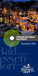 Dezember 2010 - Tagungs- und Kongresszentrum Bad Sassendorf