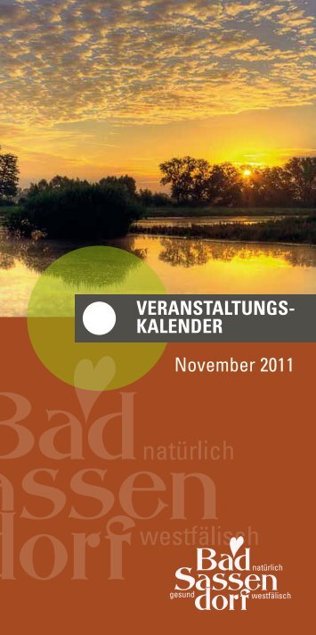 November 2011 - Tagungs- und Kongresszentrum Bad Sassendorf