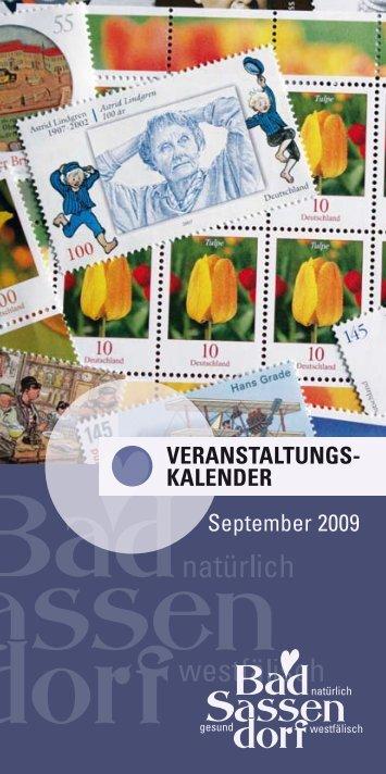 september 2009 - Tagungs- und Kongresszentrum Bad Sassendorf
