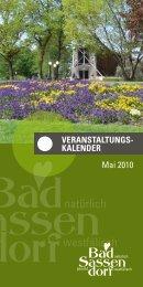 Mai 2010 - Tagungs- und Kongresszentrum Bad Sassendorf